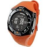 Pyle Sports PSKIW25O Ski Master V Professional Ski Watch w/ Max. 20 Ski Logbook, Weather Forecast, Altimeter, Barometer, Digital Compass,Thermometer (Orange Color)