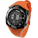 Pyle Ski Master V Reloj Digital altímetro, Unisex, Naranja