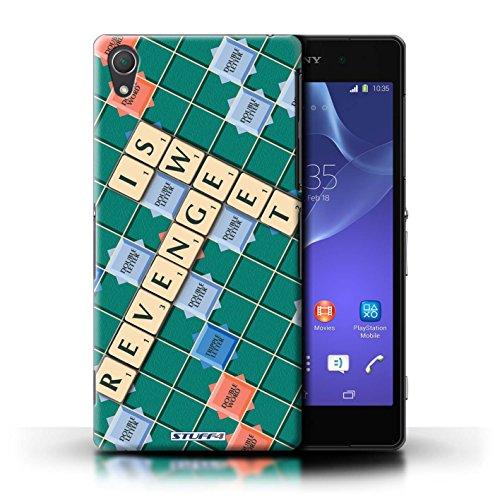 Kobalt® Imprimé Etui / Coque pour Sony Xperia Z2 / Pratique Parfaite conception / Série Mots de Scrabble Douce Vengeance