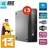 HP EliteDesk 800 G1 SFF Core I3-4130 RAM 16GB 120GB SSD DVD-Brenner WiFi W7