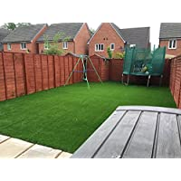Prestige 35mm Pile Height Artificial Grass | Choose from 47 Sizes on this Listing | Cheap Natural & Realistic Looking Astro Garden Lawn | Sample of Cheap High Density Fake Turf