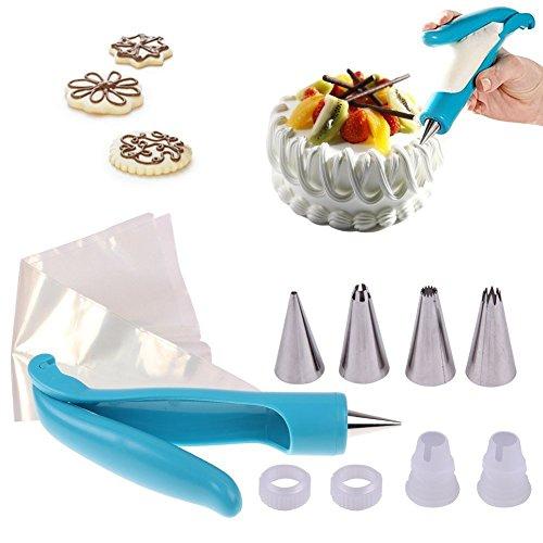 JRing Kuchen Dekorieren Stift, DIY Gebäck Düse Tipps, Gebäck Icing Piping Bag Düse Tipps SugarCraft Fondant Kuchen Zucker Werkzeug Kit (Tulip-rock-muster)