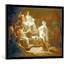 Kunst für Alle Image encadrée: Jules Louis Machard Orpheus in der Unterwelt - impression d'art décorative, en cadre de haute qualité, 95x75 cm, Noir/Bord gris