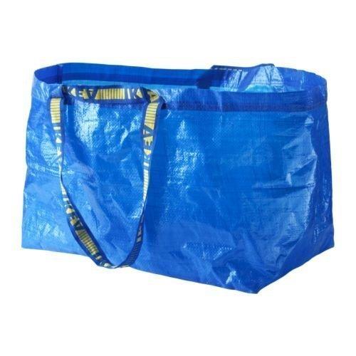 Ikea – 5 x große Taschen, Blau – ideal für Einkaufen, Wäsche und Aufbewahrung. 10-Pack blau