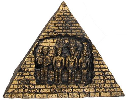 Nicepets – Adorno para decoración de acuario, pecera y terrario de resina de ruina pirámide Egipto