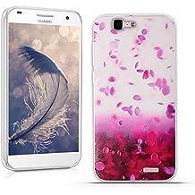 Funda Huawei Ascend G7 (L01 L03 C199) - Fubaoda - 3D Realzar, Hermosa flor Patrón, Gel de Silicona TPU, Fina, Flexible, Resistente a los arañazos en su parte trasera, Amortigua los golpes, funda protectora anti-golpes para Huawei Ascend G7 (L01 L03 C199)