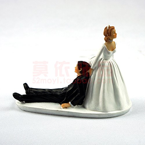 Wedding favor and decoration----Bride and Groom toppers Couple Figurine wedding cake topper for wedding cake decoration supplies cake Topper (T03)
