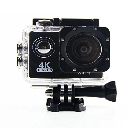 Preisvergleich Produktbild JOYCAM 4K WIFI Sport Action Kamera 30M Wasserdicht Weitwinkel Blickwinkel für Outdoor Radfahren Schwimmen Surfen