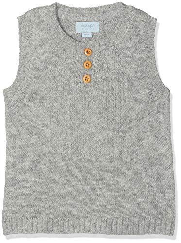 Noa Noa miniature Baby-Jungen Weste Boy Wool Knit, Grau (Grey Melange 5), 80 (Herstellergröße: 12M)
