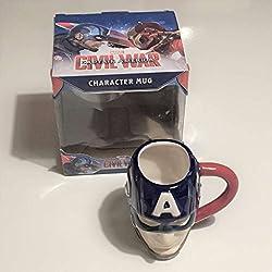 Marvel Official Captain America 3D Face Mug