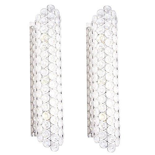 2er Set Wand Leuchten Lampen Beleuchtungen länglich Acryl Kristalle Strahler Lichter - Kristall-wand-lampe