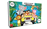 #7: Pola Puzzles Jungle Safari Tiling Puzzles 60 Pieces for Kids Age 5 Years and Above Multi Color Size 36CM X 21CM Jigsaw Puzzles for Kids