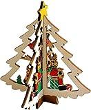 """'árbol de Navidad Navidad Decoración """"Árbol de Navidad con alce de madera, 11x 9,5cm, con colgador"""