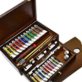 Royal Talens - Rembrandt Oil Colour Box - Master Gold Edition in Wooden Chest - With Paints, Palette, and Brushes by Royal Talens - Rembrandt
