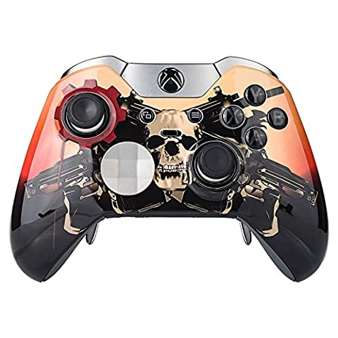 eXtremeRate® Custom Design Glossy Faceplate Front Plate Shell Replacement Kit for Xbox One Elite Remote Controller