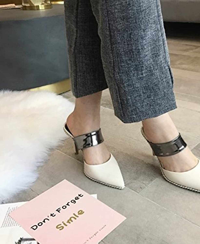 Ajunr Moda/elegante/Transpirable/Sandalias Baotou Cool zapatillas Los zapatos Los zapatos La Retro casual 9cm... -