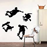 Spielen Skateboard Wandtattoo House Aufkleber abnehmbarer Wohnzimmer Tapete Schlafzimmer Küche Art Bild Wandmalereien Sticks PVC Fenster Tür Dekoration + 3D Frosch Auto Aufkleber Geschenk