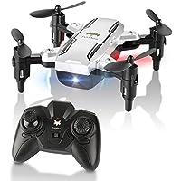 Mini Drone Plegable, H815 RC Drone Night Light Flying RC Quadcopter, One Key Return, modo sin cabeza 2.4GHz 6-Gyro Gyro Helicóptero Pequeño Dron para niños, adultos (Sliver)