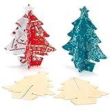 Baker Ross 3D Weihnachtsbäume aus Holz für Kinder zum Bemalen und Dekorieren (4 Stück)