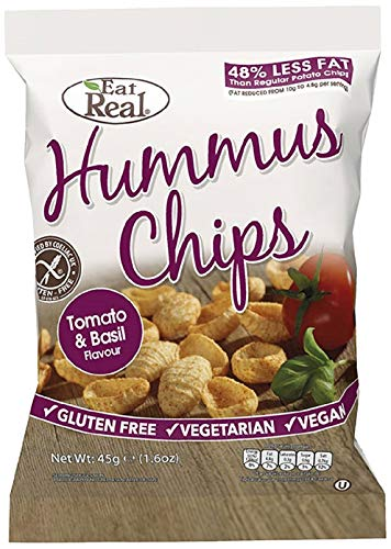 Eat Real Hummus Tomato and Basil Chips 45 g (Pack of 12)