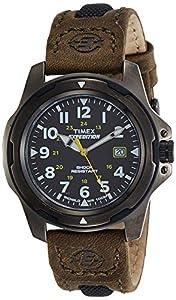 Timex Quarz T49271PF - Reloj de cuarzo para hombres, correa de piel, color verde de Timex