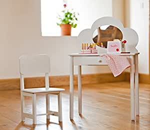 coiffeuse classique avec chaise pour enfant blanc bricolage. Black Bedroom Furniture Sets. Home Design Ideas