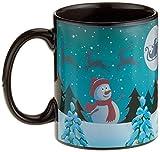 Thumbs Up Tasse Winter Wonderland Mug-mit Farbwechsel, Keramik, schwarz, 12 x 9.5 x 8 cm