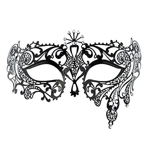 Ndier Maske kostüm Venetian Stil Metallmaske Luxus Abschlussball Partei Schablonen glänzender Diamant Maskerade Maske für Frauen Flower Bud Kleidung
