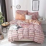 BFMBCH nicht Bedruckte Baumwolle vierteilige Bettwäsche Herbst und Winter Gute Bettwäsche Bettbezug E1 150cmx200cm