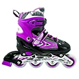 Jilani Trading Inline Skate Shoes Adjustable Size 38 To 42 Purple L Size Age 10-14Years