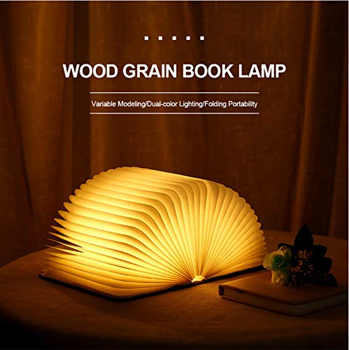 Tragbare usb wiederaufladbare led magnetische faltbare holz buch lampe nachtlicht schreibtischlampe heißer verkauf für wohnkultur dropshipping