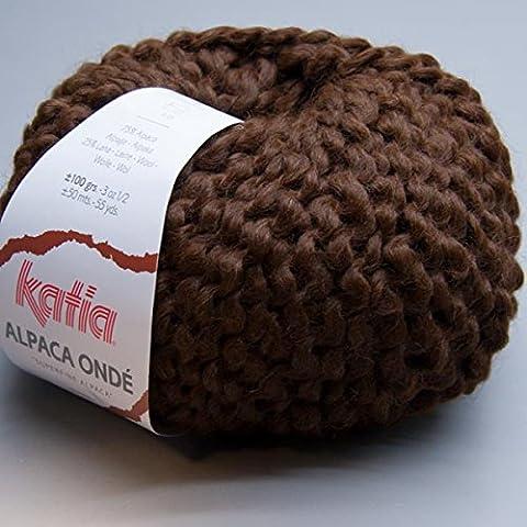 Katia Alpaga onde 53–Marron–100g–75% Alpaga 25% laine