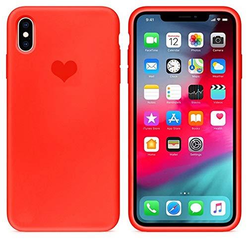 EWUEJNK Handyhülle,Weiche TPU Matte Candy Herz Liebe Telefon Fall Für Apple iPhone 7 8 6 6 S Plus Xs Max Xr Zehn X 10 Silikonhülle Original, iPhone X -