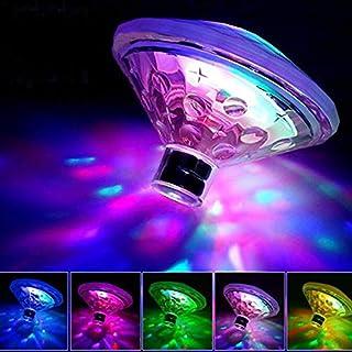 Funihut Submersible LED Light Decorative Colourful Landscape Lights Waterproof Multicoloured RGB Submersible Disco Floating/Submersible Lights Ideal Aquarium Bathtub Pool Garden Middle/AQ
