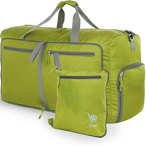 Reisetasche - diese faltbare, 85l große Reisetasche ist beständig, packbar, SUPERLEICHTE 410g mit abnehmbarem Schulterriemen - lässt sich in sich falten - am besten als Gepäck oder Sporttasche - VERMEIDEN SIE GEBÜHREN FÜR ÜBERGEPÄCK - 100% ZUFRIEDENHEITSGARANTIE (Grün) (Reisetaschen Bag Tag)