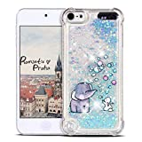 Mosoris Coque iPod Touch 6 Glitter Liquide Cover Mode 3D TPU Etui, iPod Touch 5...