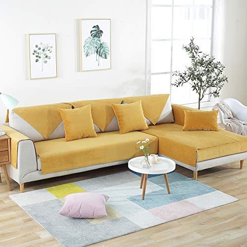 Multi-sofa Schonbezug (RHXX wasserdichte Urin rutschfeste Sofakissen Couch Cover Multi-Size-Möbel Beschützer Anti-Milbe Perfekt Für Kinder Haustiere Sofa Schonbezug,Orange,70 * 180cm)
