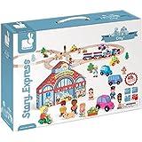 Janod - Story Express City, set de juego con piezas de ciudad (08508529)