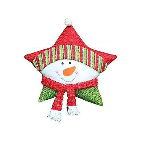 Décoration de Noël, Moon mood® Accessoires de Noël Cadeaux de Noël Vert Rouge Oreiller de Noël Décoration Beaux Motifs Commodity Noël pour Fête de Noël,Bar,Famille