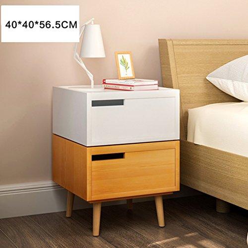 Comodino legno di pino cassetti armadio per documenti armadietti (colore : 4, dimensioni : 40 * 40 * 56.5cm)