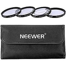 Neewer 52mm 4piezas Macro Kit de filtros de primer plano (+ 1, + 2, + 4, + 10) con bolsa de filtro para Nikon D7100D7000D5200D5100D5000D3300D3200D3000D90D80y otros lente de cámara con 52mm rosca de filtro