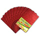 Glitter Foam Sheets Non Adhesive Pack of 10 Red Colour 2MM