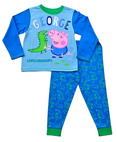 Image of Peppa Pig George Pig Dinosaur Pyjamas 1-5 Years (2-3 Years) w16