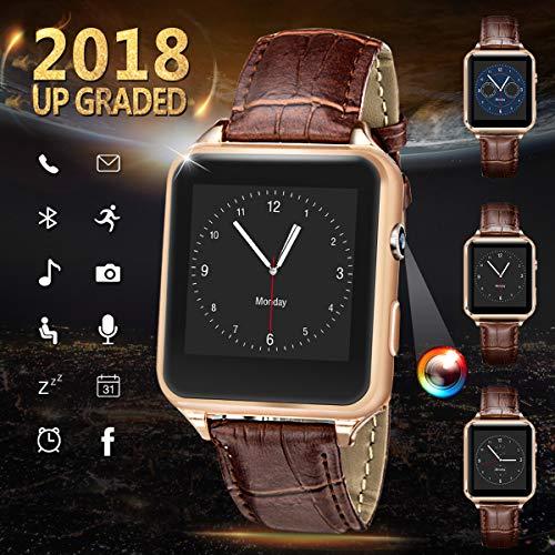 Bluetooth Smartwatch, Bluetooth Uhr Intelligente mit Kamera Touchscreen Telefon mit SIM TF Kartenslot Smart Armband Uhren Fitness Tracker Armbanduhr Kompatible für Android für Herren Damen