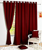 Story@Home Blackout Faux Silk Plain Soli...
