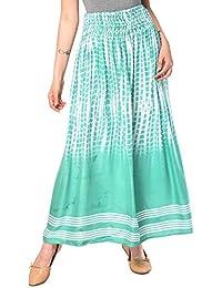 Nakoda Creation Women's Rayon Tie Die Print Skirt