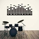 GSXDBD Sticker Mural Musique DJ ...