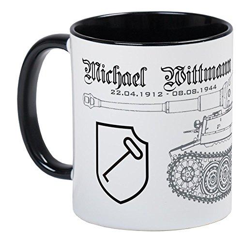 CafePress-Panzer Ace Michael Lee Wittman-Einzigartige Kaffee Tasse, Kaffeetasse, Tee, Tasse, White/Black Inside, S
