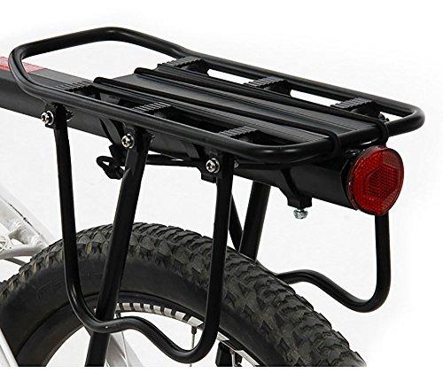 ThreeH Bicicleta Trasera Rack Aluminio Ciclismo Ajustable portaequipajes con Reflector BK43