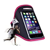 Sportarmband für Handys & Smartphones / Jogging- und Laufarmband / Für Handygrößen von 152x73x7mm bis 158x77,9x9,6mm / pink